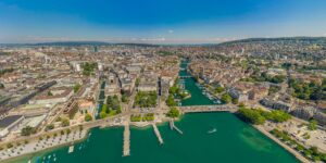 Zurich City and Lake