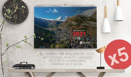 5x Aumivi Kalender 2021 mit VR Erweiterung
